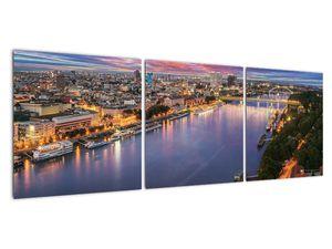 Obraz nočného mesta Bratislavy s riekou (V020706V12040)