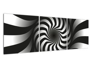 Abstraktní obraz černobílé spirály (V020831V12040)