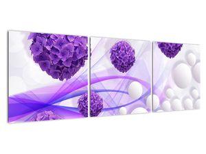 Obraz - Koule, kuličky, květy, ... (V021304V12040)