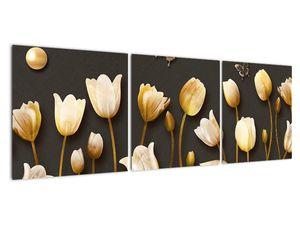 Obraz - Tulipány - abstraktné (V021347V12040)
