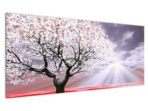 Červený obraz stromu (V020052V12050)