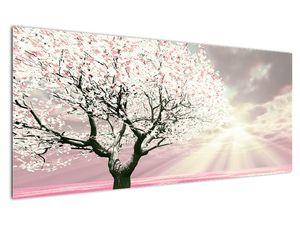 Růžový obraz stromu (V020058V12050)