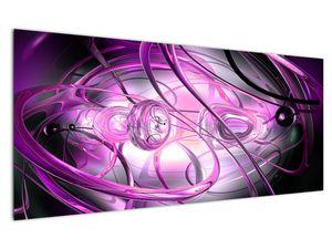 Obraz krásné fialové abstrakce (V020060V12050)