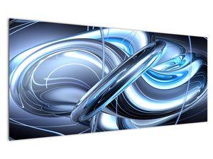 Tablou cu abstracție albastră (V020061V12050)