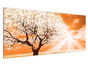 Oranžový obraz stromu (V020095V12050)