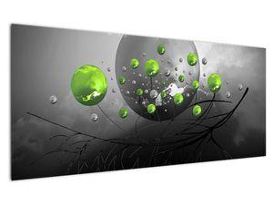 Zöld absztrakt gömbök képe (V020103V12050)