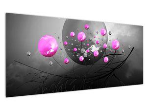 Tablou cu bile roz  (V020105V12050)