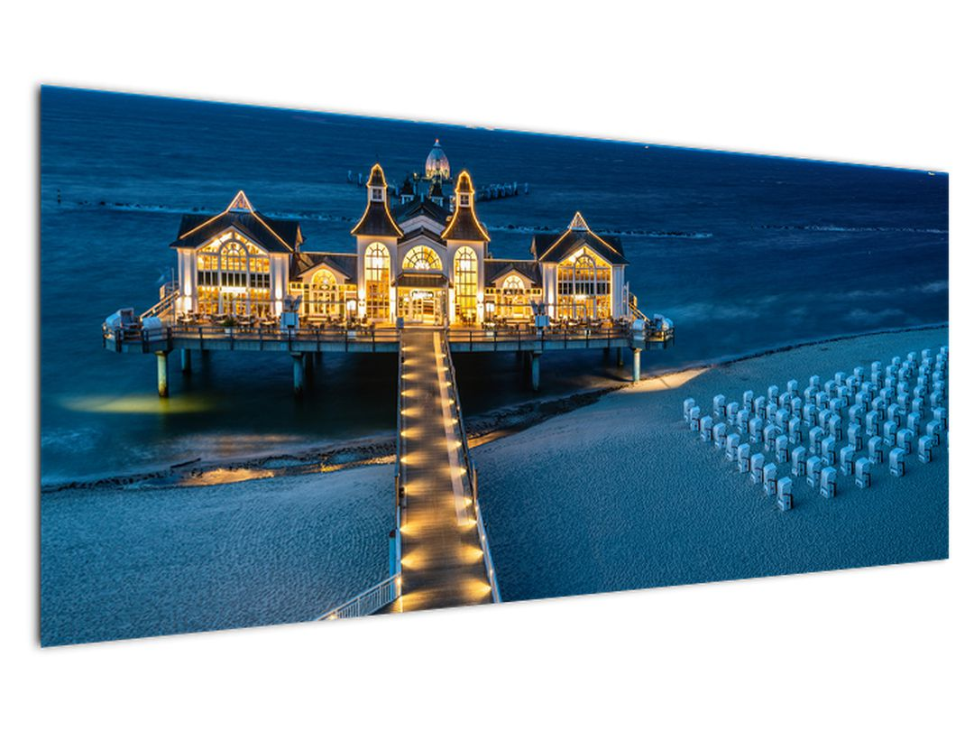 Tablou - hotel pe plajă (V020289V12050)