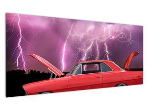 Slika crvenog automobila (V020409V12050)