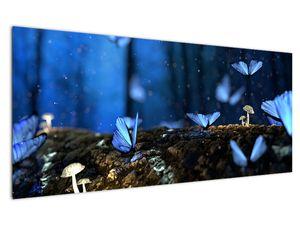 Obraz modrých motýlů (V020434V12050)