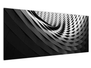 Abstraktní obraz - černobílá spirála (V020667V12050)