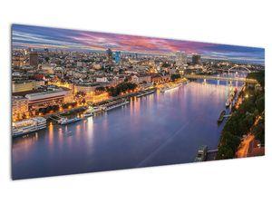 Obraz nočného mesta Bratislavy s riekou (V020706V12050)