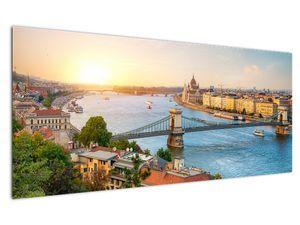 Obraz města Budapešť s řekou (V020712V12050)