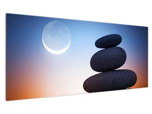 Obraz poskládaných kamenů na sobě (V020903V12050)
