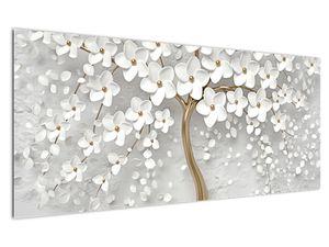 Obraz bílého stromu s květinami (V020977V12050)