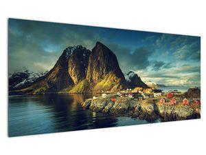Obraz rybářské vesnice v Norsku (V021280V12050)