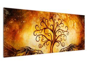 Naravna abstraktna slika drevesa (V022111V12050)