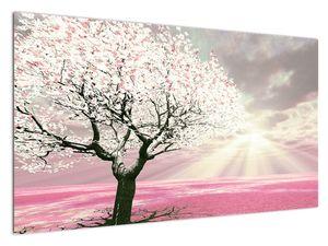 Ružičasta slika stabla (V020058V12070)
