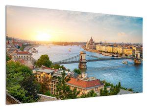 Bild der Stadt Budapest mit Fluss (V020712V12070)