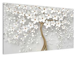 Slika bijelog stabla s cvijećem (V020977V12070)