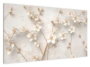 Slika - Zlatni cvijet - apstrakcija (V021300V12070)