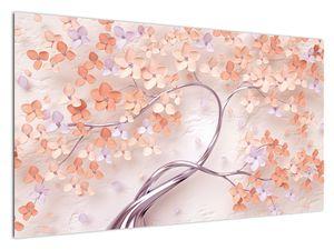 Slika koraljnih cvijetova stabla - apstrakcija (V021301V12070)