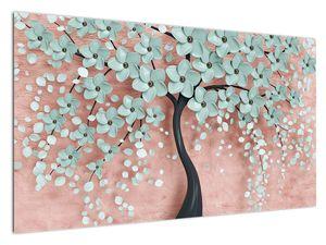 Slika - Pastelno modri cvetovi (V021459V12070)