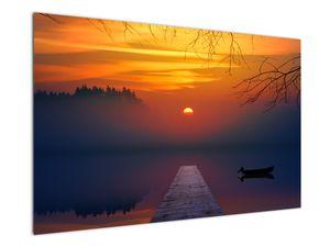 Tablou cu podul în apus de soare (V020012V12080)