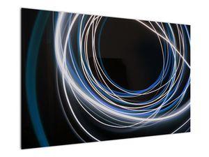 Tablou cu linii albastre (V020053V12080)