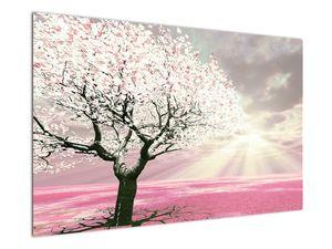 Růžový obraz stromu (V020058V12080)