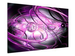 Obraz krásné fialové abstrakce (V020060V12080)