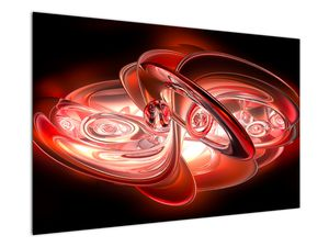 Obraz - červené tvary (V020064V12080)