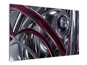 Tablou cu abstracție gri (V020094V12080)