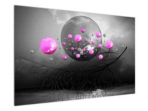 Tablou cu bile roz  (V020105V12080)