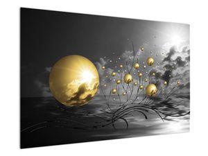 Okker gömbök képe (V020109V12080)