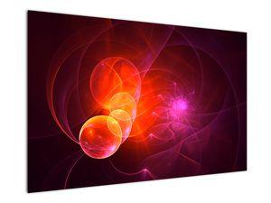 Moderní obraz růžové abstrakce (V020129V12080)