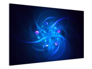 Moderní obraz modré abstrakce (V020137V12080)