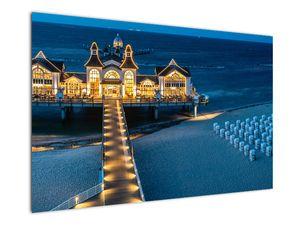 Tablou - hotel pe plajă (V020289V12080)