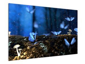 Obraz modrých motýlů (V020434V12080)
