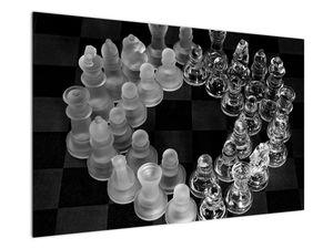 Obraz - černobílé šachy (V020598V12080)