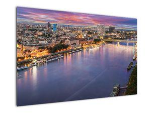 Obraz nočného mesta Bratislavy s riekou (V020706V12080)