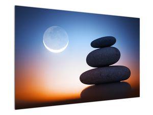 Obraz poskládaných kamenů na sobě (V020903V12080)