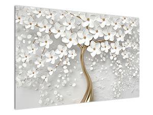 Tablou cu copac alb cu flori (V020977V12080)