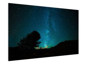 Obraz nočnej oblohy s hviezdami (V021100V12080)