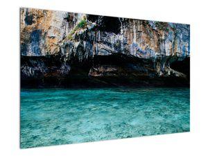 A víz és a sziklák képe (V021152V12080)