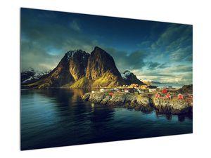 Obraz rybárskej dediny v Nórsku (V021280V12080)