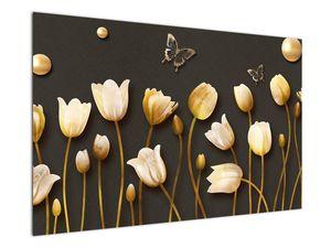 Obraz - Tulipány - abstraktné (V021347V12080)