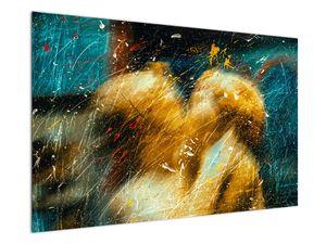 Obraz - Bozkávajúci sa anjeli (V021614V12080)
