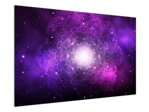 Obraz fialové abstrakce (V022148V12080)