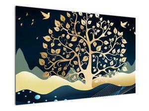 Obraz zlatého stromu (V022286V12080)